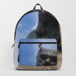 Sculpture Cat Up High Backpack