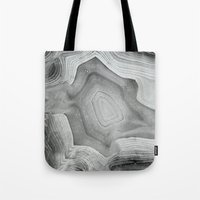 mineral Tote Bags featuring MINERAL MONOCHROME by Catspaws