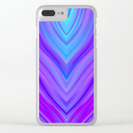 stripes wave pattern 3 sm120i Clear iPhone Case