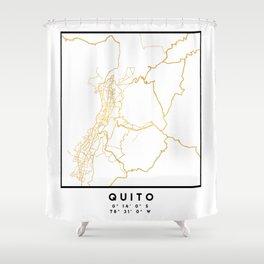 QUITO ECUADOR CITY STREET MAP ART Shower Curtain