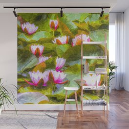 Water Lilys Art Wall Mural