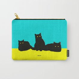 Three Cats Carry-All Pouch