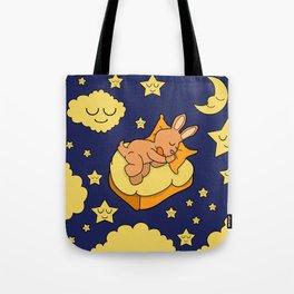 Sleeping Bunny Tote Bag