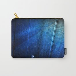 Raindrop on Blue Web Carry-All Pouch