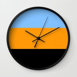Just three colors 7 blue,orange,black Wall Clock
