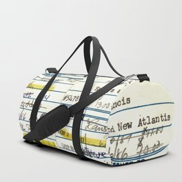 Library Card 5478 The New Atlantis Duffle Bag