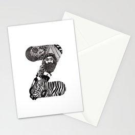 Letter Z Stationery Cards