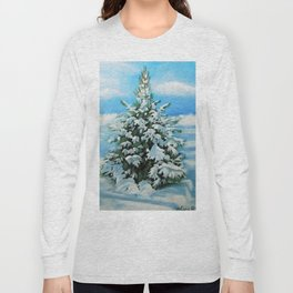 The Day After Snow Scene Art Long Sleeve T-shirt