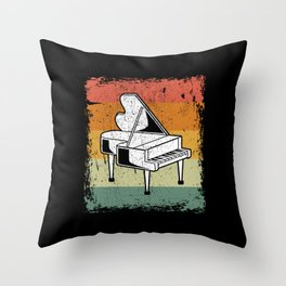 Vintage Piano Player Music Piano Gift Idea Throw Pillow