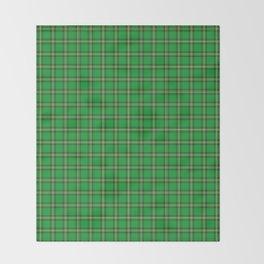 Maasai Shuka - Green & Yellow Throw Blanket