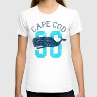 cape cod T-shirts featuring Cape Cod Whale by Rob Howell