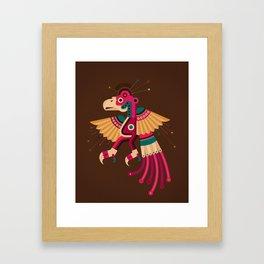 """Chiconcuetzalli"" The Scarlet Framed Art Print"