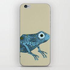 Little blue frog iPhone & iPod Skin