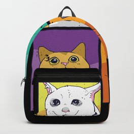 Funny Cats Memes Cat Faces Backpack