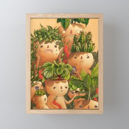 Plant-minded Framed Mini Art Print