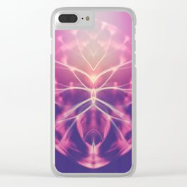 Colorful abstract ball Clear iPhone Case