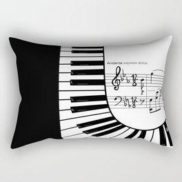 Piano keys I Rectangular Pillow
