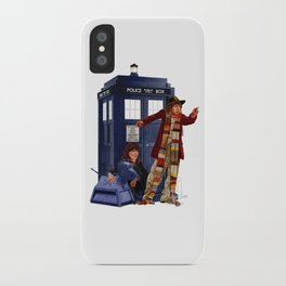 4th Doctor, Sarah Jane, K-9 and the TARDIS iPhone Case