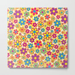 Bright Flowers Metal Print