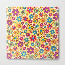 Bright Flowers Metal Print