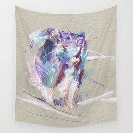 Purple rat Wall Tapestry