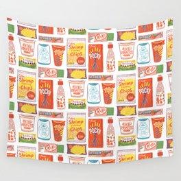 Asian Snacks Wall Tapestry
