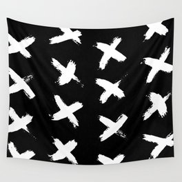 The X White on Black Wall Tapestry
