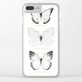 Watercolor Buterflies Clear iPhone Case