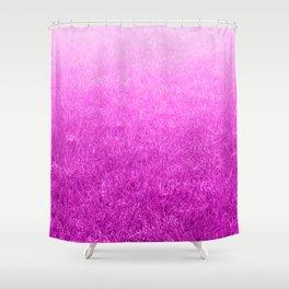 Light-to-Dark Pink Ombre Gradient Grass Shower Curtain