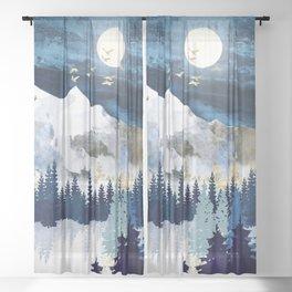 Moonlit Snow Sheer Curtain