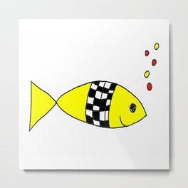 Fifi the fish Metal Print
