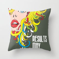 Results May Vary Throw Pillow