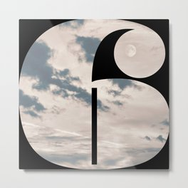 Nr. 6 | Numbers with a View | Typography Letter Art Metal Print