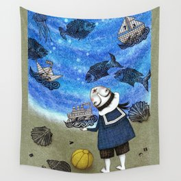 Day on the Beach Wall Tapestry