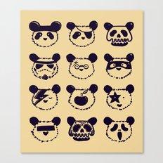 Pop Panda Tee Canvas Print