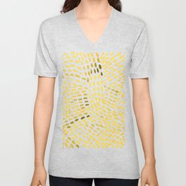 Watercolor dotted lines - yellow Unisex V-Neck