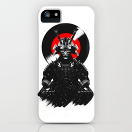 Samurai Dj Warrior iPhone Case
