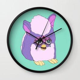 Purple Furby Wall Clock