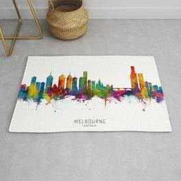 Melbourne Australia Skyline Rug