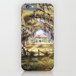 Classical African American Landscape 'Boone Hall Plantation' by Edwin Harleston iPhone Case