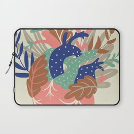 Love Heart Floral Calligraphy Laptop Sleeve