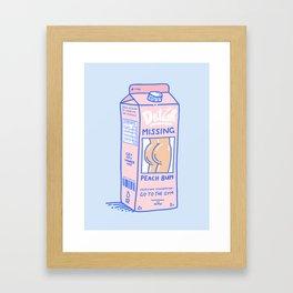 Missing Peach Bum Framed Art Print