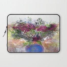Burgundy Floral in Blue Vase Laptop Sleeve