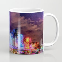 South Beach Miami City Lights by Jeanpaul Ferro Coffee Mug
