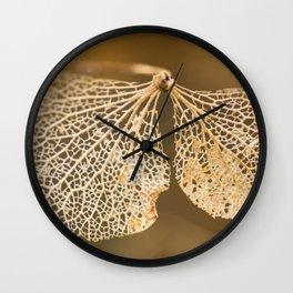 Lace hydrangea Wall Clock