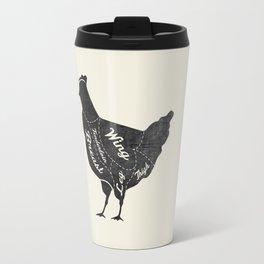 Chicken Butcher Diagram Travel Mug