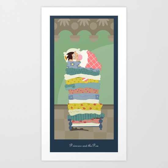 Princess and the Pea Art Print