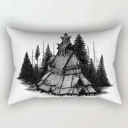Fantoft Stave Church Rectangular Pillow