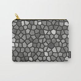 Faux Stone Mosaic in Darker Grays Carry-All Pouch