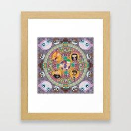 Phineas and Ferb Mandala Framed Art Print